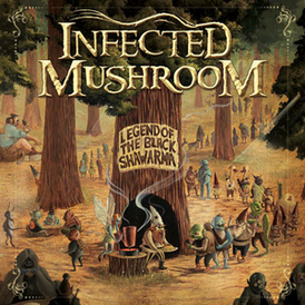 Обложка альбома Infected Mushroom «Legend of the Black Shawarma» (2009)