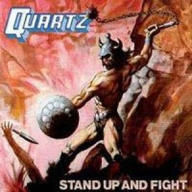 Обложка альбома Quartz «Stand Up and Fight» (1980)