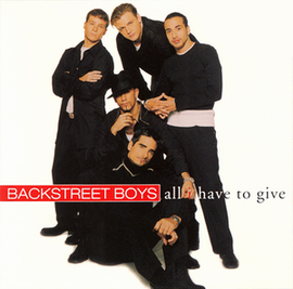 Обложка сингла Backstreet Boys «All I have to give» (1998)