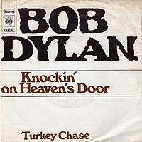 Обложка сингла «Knockin' on Heaven's Door» (Боба Дилана, 1973)