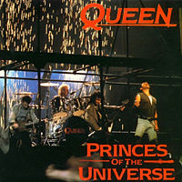 Обложка сингла «Princes of the Universe» (Queen, 1986)