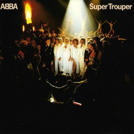 Обложка сингла ABBA «Super Trouper» (1980)