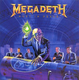 Обложка альбома Megadeth «Rust in Peace» (1990)