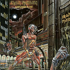 Обложка альбома Iron Maiden «Somewhere in Time» (1986)