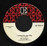 Обложка сингла «I Wanna Be Your Dog» (The Stooges, 1969)