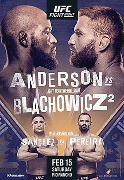 Ufc Fight Night 167 Anderson Vs Blahovich 2 Vikipediya