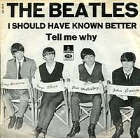Обложка сингла «Tell Me Why» (The Beatles, 1964)