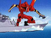Евангелион. Евангелион-02 на палубе крейсера