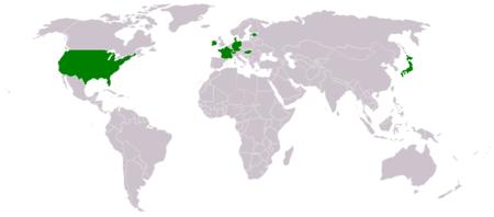 Карта использования hk usp в мире