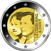 €2 commemorative coin Luxembourg 2009.jpg