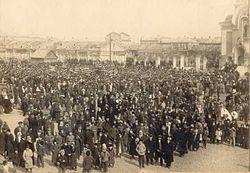 Митинг на базарной площади в марте 1917