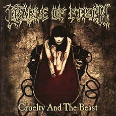 Обложка альбома Cradle of Filth «Cruelty and the Beast» (1998)