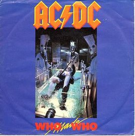 Обложка сингла AC/DC «Who Made Who» (1986)