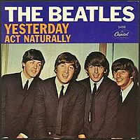 Обложка сингла «Act Naturally» (The Beatles, 1965)