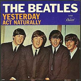 Обложка сингла The Beatles «Act Naturally» (1965)