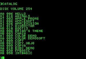 Скриншот Apple DOS 3.0