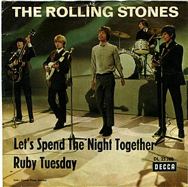 Обложка сингла the Rolling Stones «Let's Spend the Night Together» (1967)