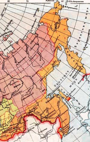 Дальневосточный край на карте