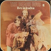 Обложка альбома The Beach Boys «Live in London» (1970)