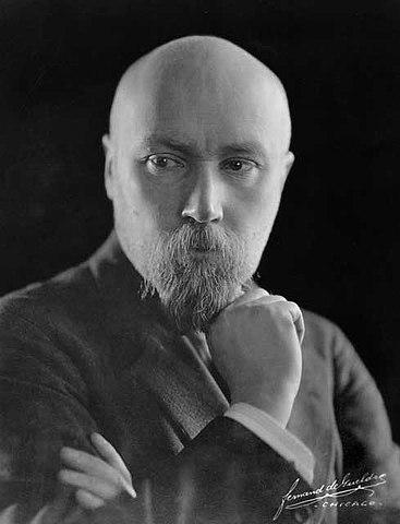 Фото-портрет Н. К. Рериха. Чикаго. 1921