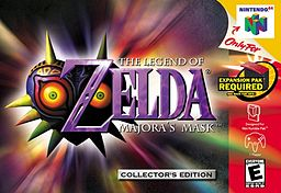 Обложка к игре The Legend of Zelda: Majora's Mask