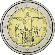 €2 commemorative coin Vatican 2013 World Youth Day.jpg