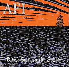 Обложка альбома AFI «Black Sails in the Sunset» (1999)