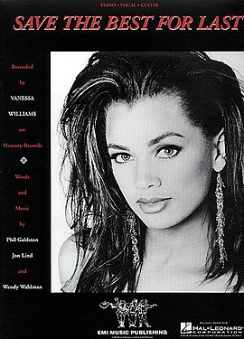 Обложка сингла Vanessa Williams «Save the Best for Last» (1992)
