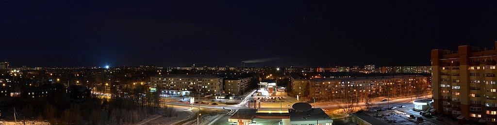 Проспект Обводный канал ночью