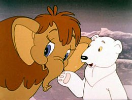 Кадр из мультфильма «Мама для мамонтёнка»