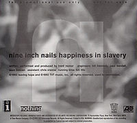 Обложка сингла «Happiness in Slavery» (Nine Inch Nails, 1992)