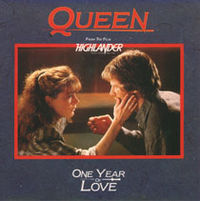 Обложка сингла «One Year of Love» (Queen, 1986)