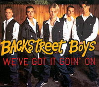 Обложка сингла «We've got it goin' on» (Backstreet Boys, 1995)