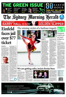 Sydney Morning Herald front page 12-12-2005.jpg