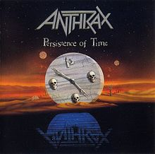 Обложка альбома Anthrax «Persistence of Time» (1990)