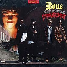 Обложка альбома Bone Thugs-N-Harmony «Creepin on ah Come Up» (1994)