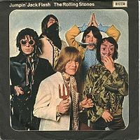 Обложка сингла «Jumpin' Jack Flash» (The Rolling Stones, 1968)