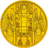 2005 Austria 100 Euro Steinhof Church back.jpg