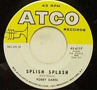 Обложка сингла «Splish Splash» (Бобби Дарина, 1958)