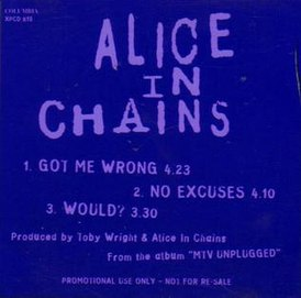 Обложка сингла Alice in Chains «Got Me Wrong» (1994)