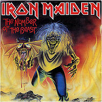 Обложка сингла «The Number of the Beast» (Iron Maiden, 1982)