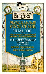 1923 FA Cup Final programme.jpg