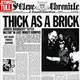 Обложка альбома Jethro Tull «Thick as a Brick» (1972)