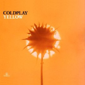 Обложка сингла Coldplay «Yellow» (2000)