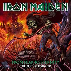 Обложка альбома Iron Maiden «From Fear to Eternity: The Best of 1990–2010» (2011)