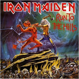 Обложка сингла Iron Maiden «Run to the Hills» (1982)