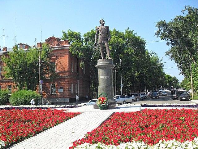 Памятник Н. Н. Муравьёву-Амурскому в Благовещенске