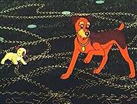 Кадр из мультфильма «Следы на асфальте»