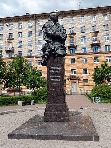 Памятник Мусе Джалилю. Установлен на Васильевском острове в Санкт-Петербурге