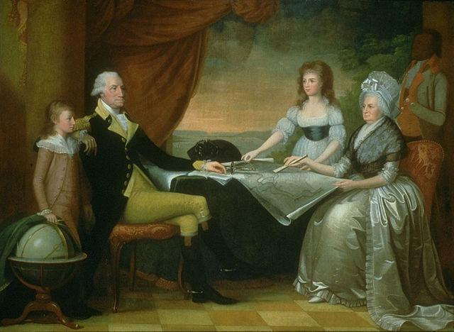 Семья Джорджа Вашингтона- Марта Вашингтон и её дети